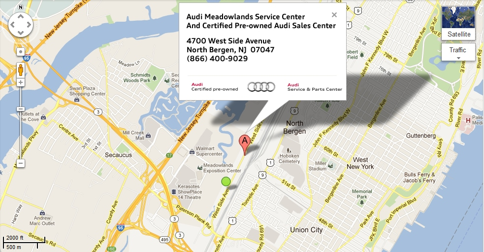 Audi Service Center In Nj Directions Audi Meadowlands