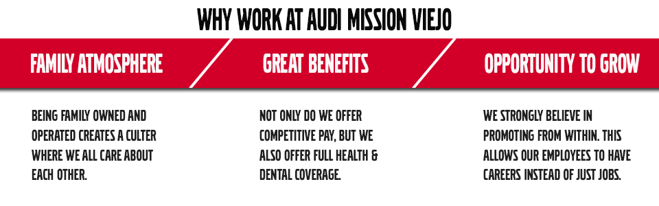 Audi Mission Viejo Now Hiring Career Opportunities