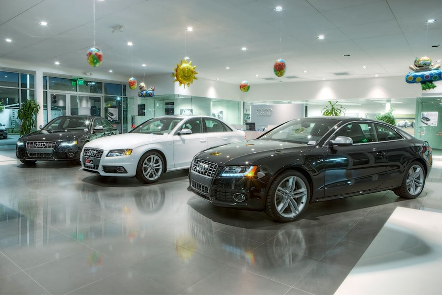 DCH Audi Oxnard showroom interior