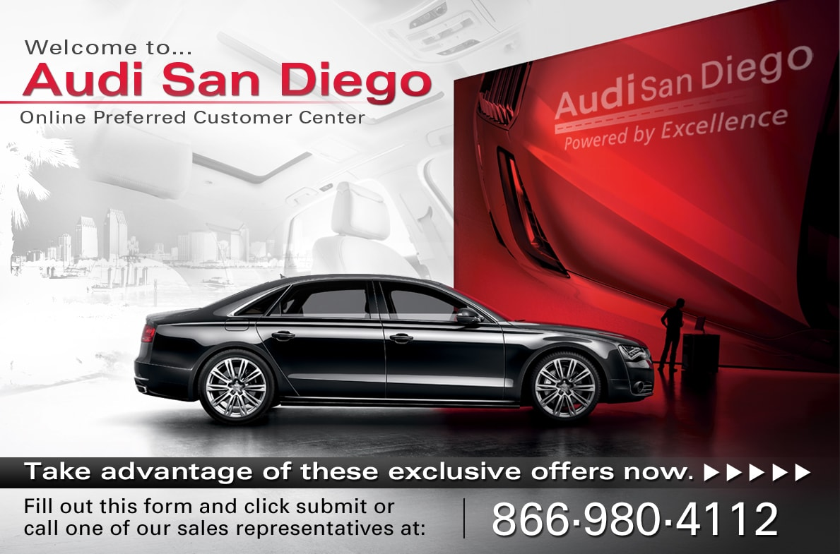 welcome to audi san diego online preferred customer center. Black Bedroom Furniture Sets. Home Design Ideas