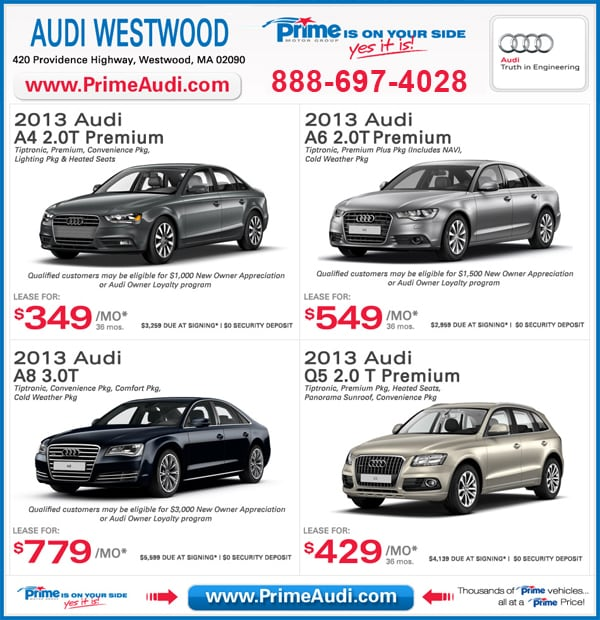 Audi Westwood Lease Specials