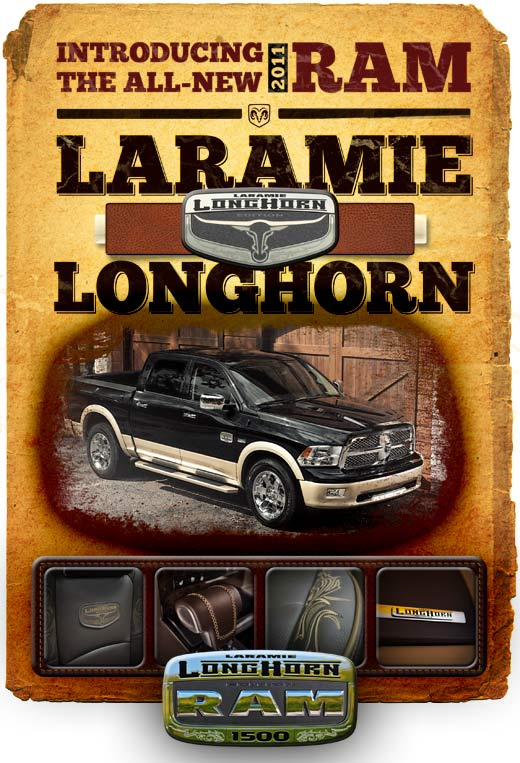 The all new 2011 Ram Laramie Longhorn