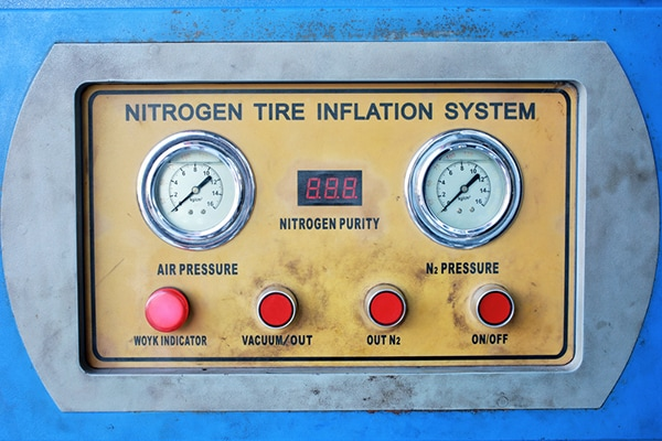Nitrogen filled tires
