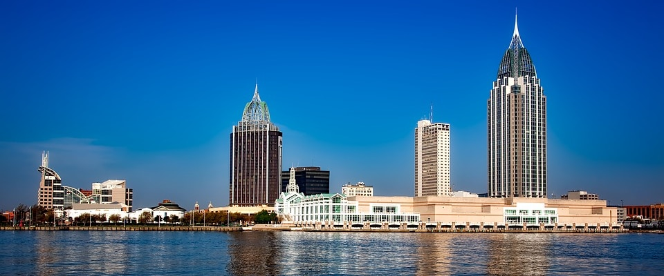 Scenic view of Mobile, AL