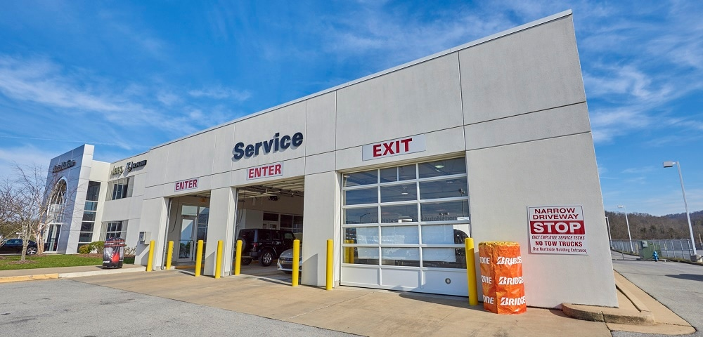 Exterior view of AutoNation Chrysler Dodge Jeep RAM & FIAT Arapahoe serving Elizabethton