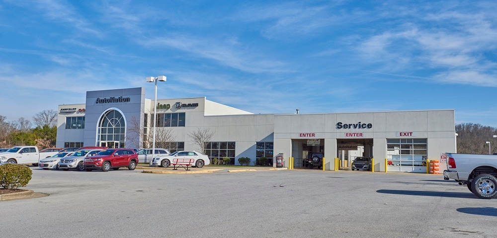 Exterior view of AutoNation Chrysler Dodge Jeep RAM & FIAT Arapahoe serving Kingsport