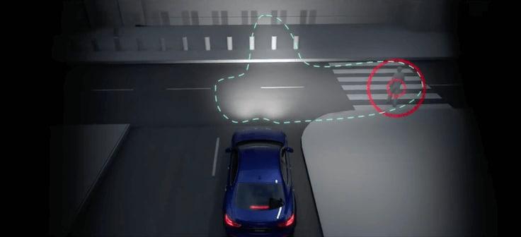 Maserati LED Adaptive Matrix Headlight demonstration