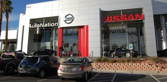 Exterior Of AutoNation Nissan Las Vegas Dealership