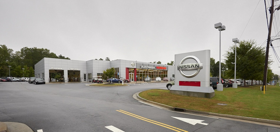Exterior view of AutoNation Nissan Serving Sandy Springs