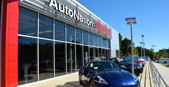 Exterior of AutoNation Nissan Marietta Dealership