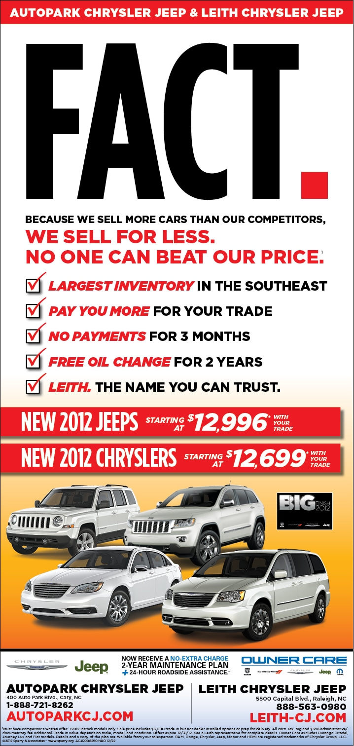 autopark chrysler jeep new car ad   new car sales specials coupons
