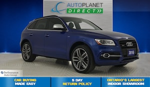 2016 Audi SQ5 3.0T Quattro, Progressiv, Back Up Cam, Pano Roof!