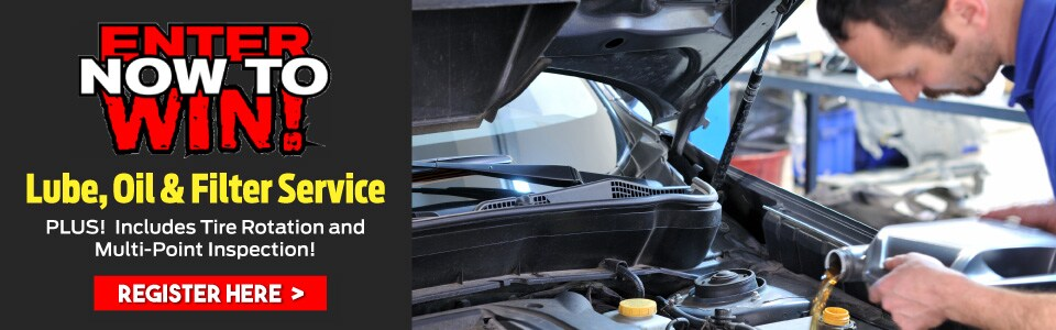free oil change and tire rotation contest
