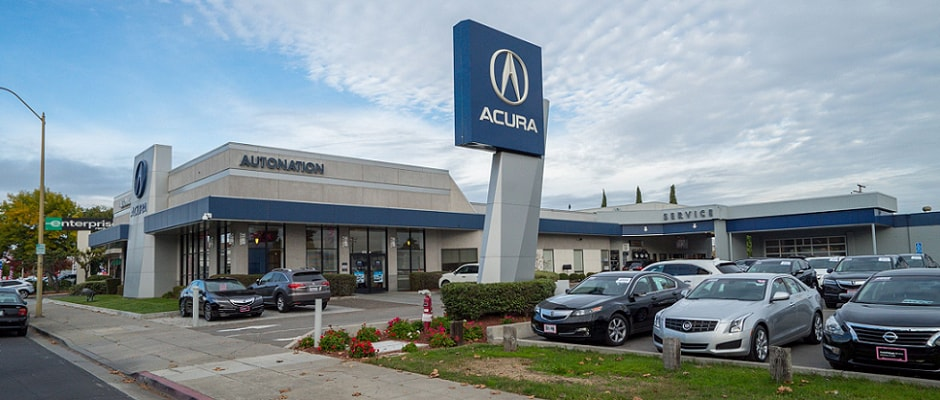 Exterior view of AutoNation Acura Stevens Creek serving the San Jose area