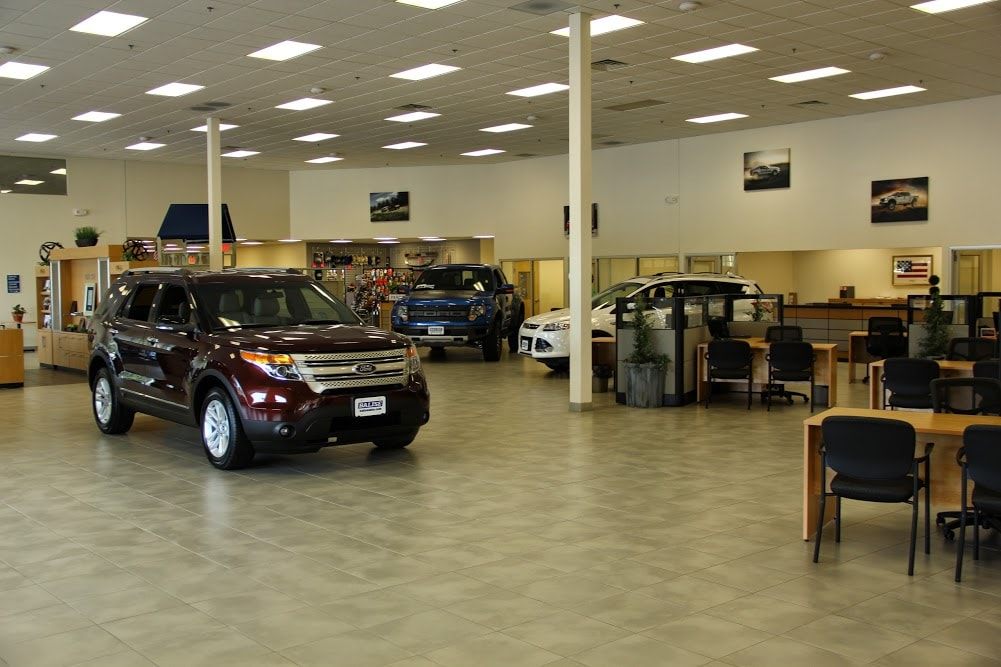 the new Ford Model Showroom at Balise Ford of Cape Cod
