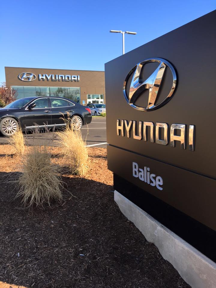 the dealership sign in front of Balise Hyundai in Springfield