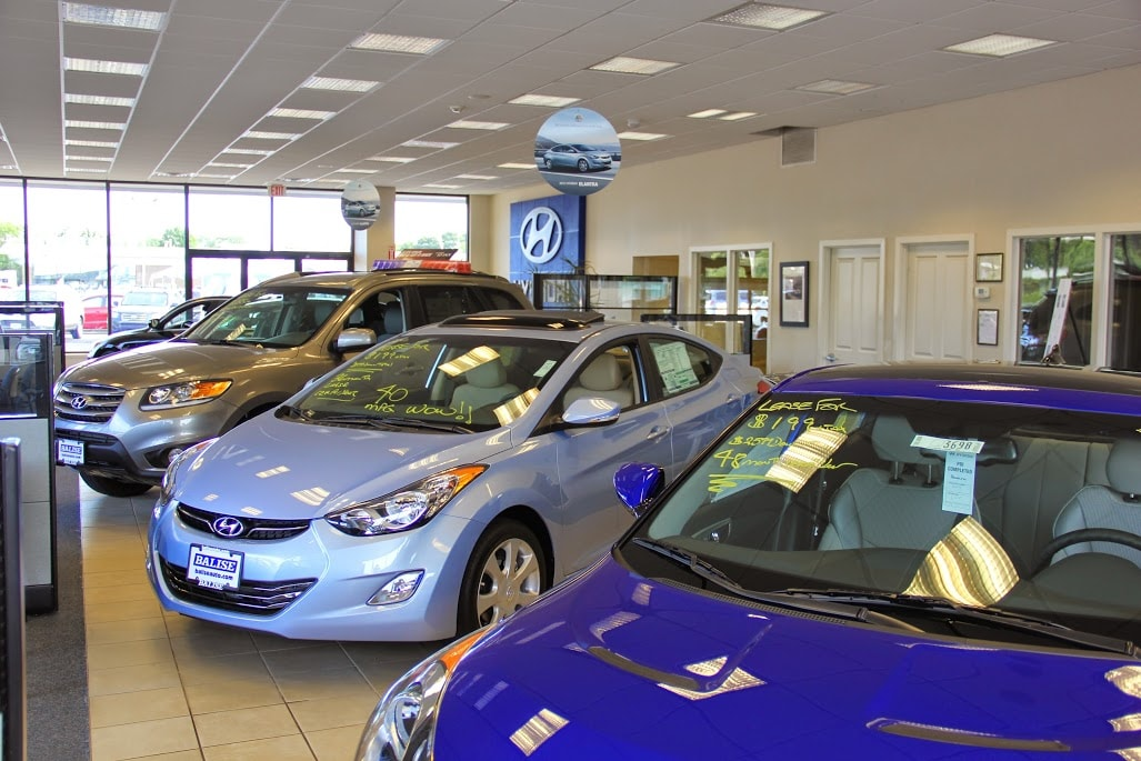 the new Hyundai showroom at Balise Hyundai of Cape Cod