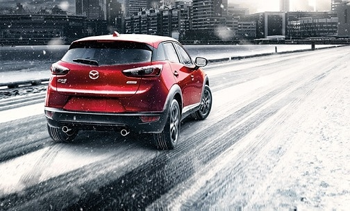 Mazda CX-3 SUV in snow