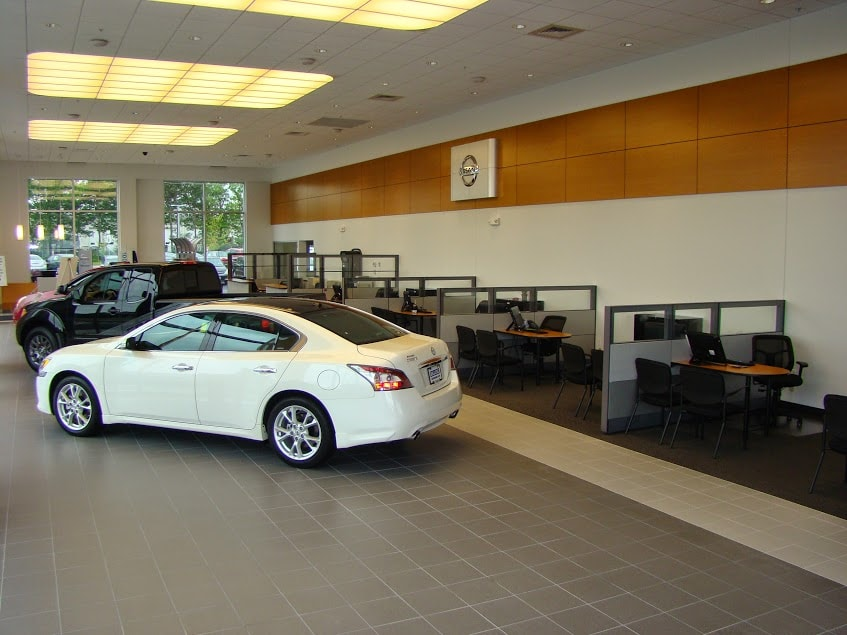 inside dealership showroom at Balise Nissan of Cape  Cod