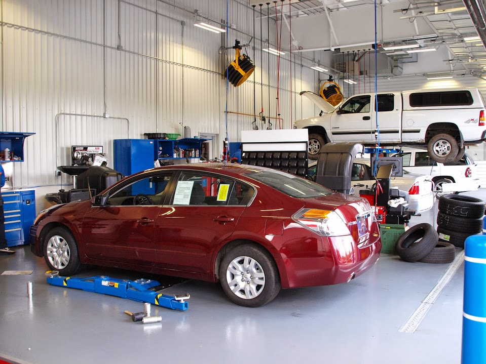 Inside our Auto Service center in  Wilbraham MA