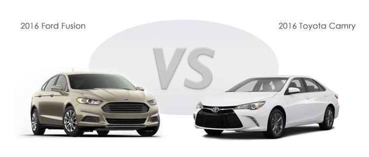 2016 Ford Fusion vs 2016 Toyota Camry