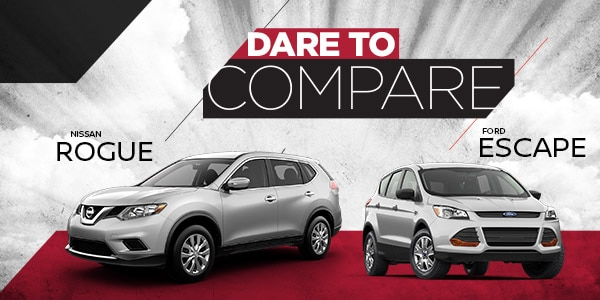 Nissan Rogue vs. Ford Escape