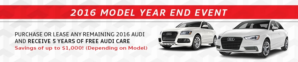 2016 Audi Close-Out Sale Cincinnati