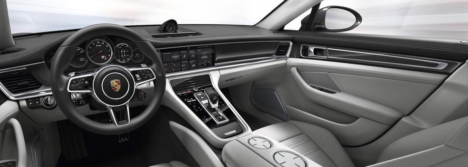 technology - Porsche Panamera White Red Interior