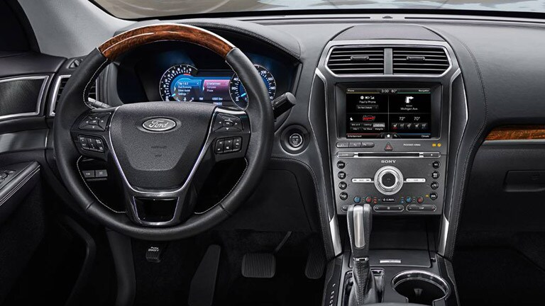 2016 ford explorer interior and technology