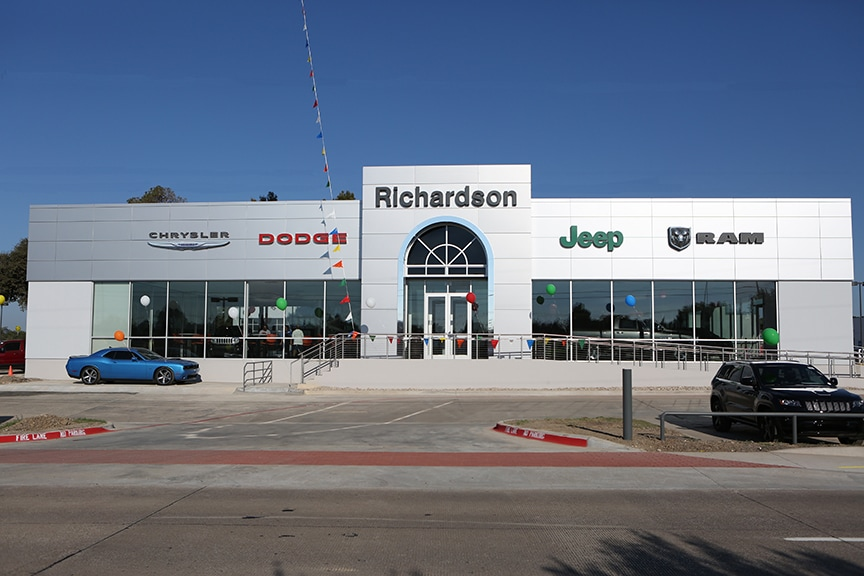 chrysler jeep dodge ram directions loading map richardson chrysler. Cars Review. Best American Auto & Cars Review