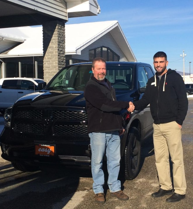 happy new Ram owner at Berlin City Dodge Chrysler Jeep RAM