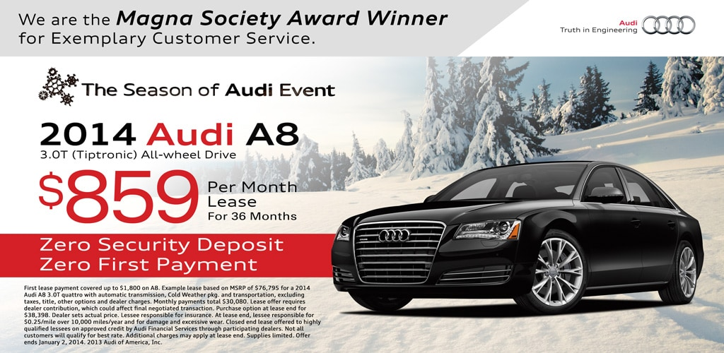 Audi A8 Lease Special Lease Special Audi A8