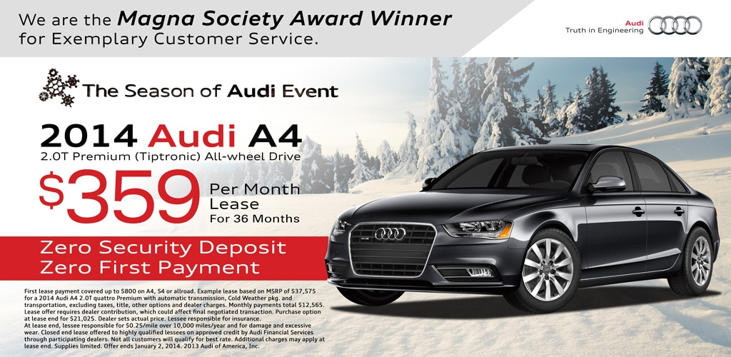 Audi A4 Lease Special | Lease Special Audi A4