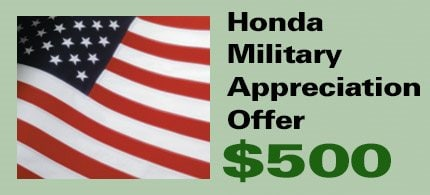 Honda Military Appreciation Offer Is Available To Individuals Who Are