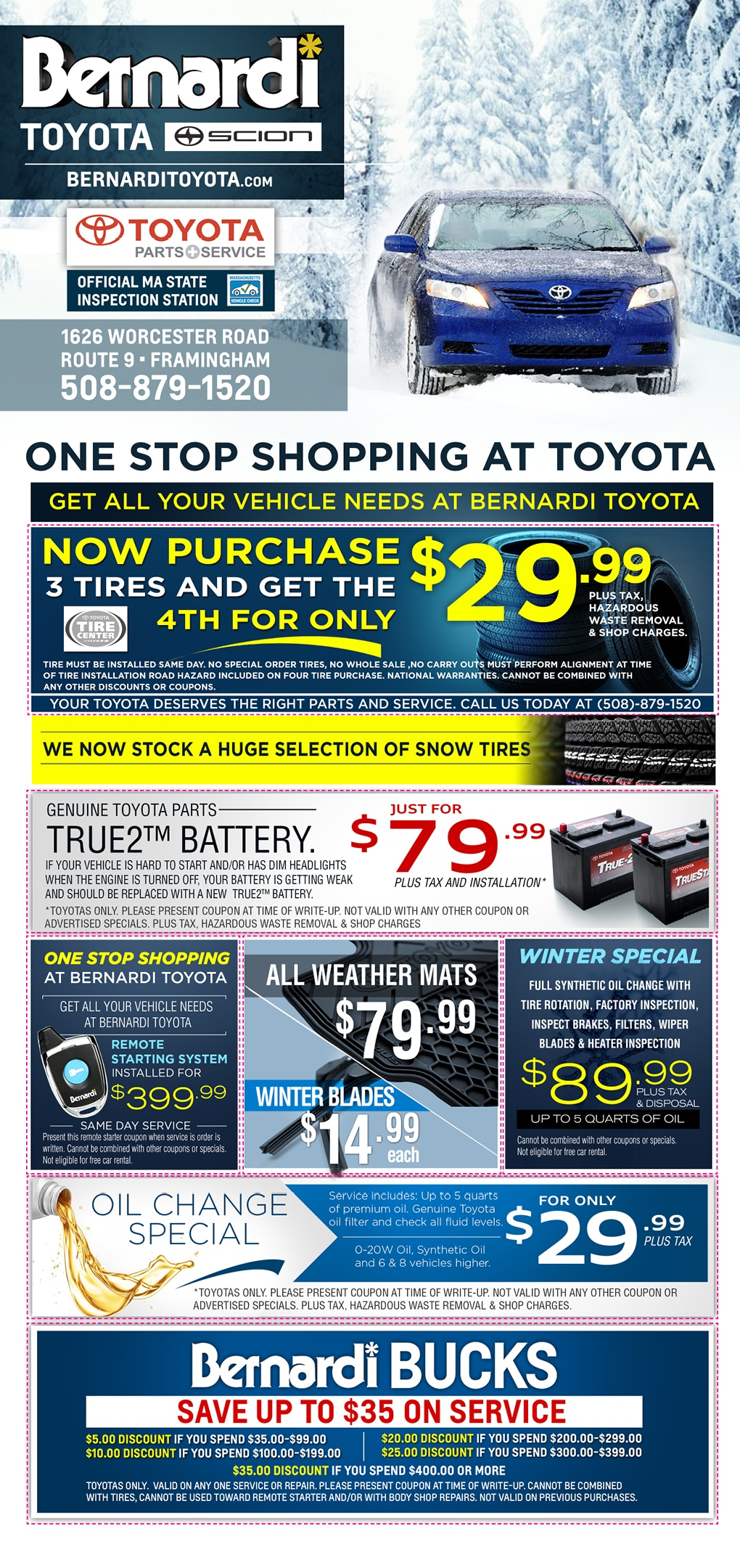 Toyota owners coupons