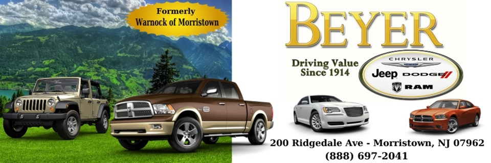 Banner Image of Beyer Chrysler Dodge Jeep Ram at Beyerchryslerdodgejeepram.com