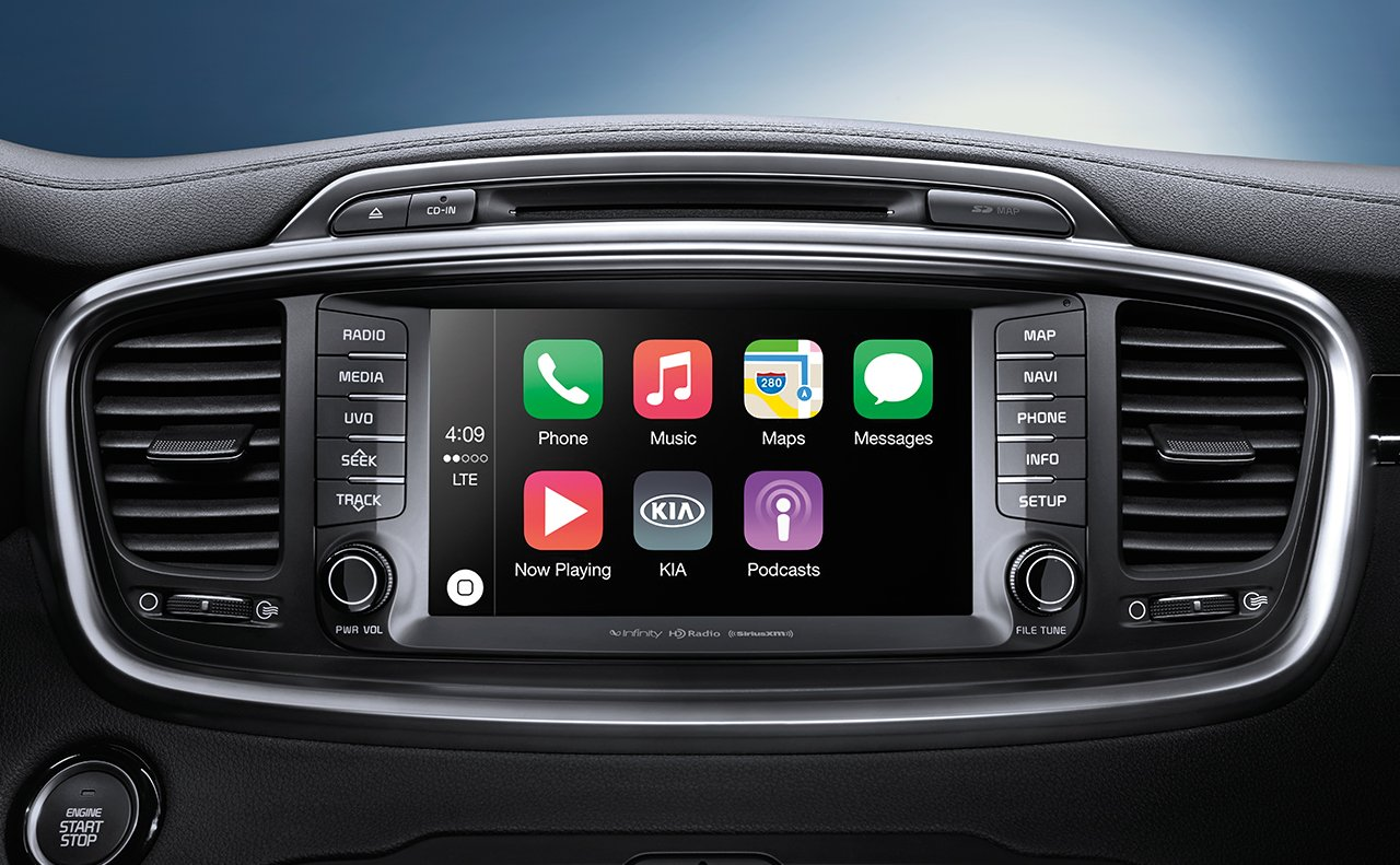 kia sorento android auto - apple car play
