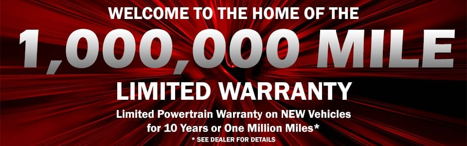 Million Mile Warranty on new Chrysler Dodge Jeep & Ram vehicles near Cookeville TN