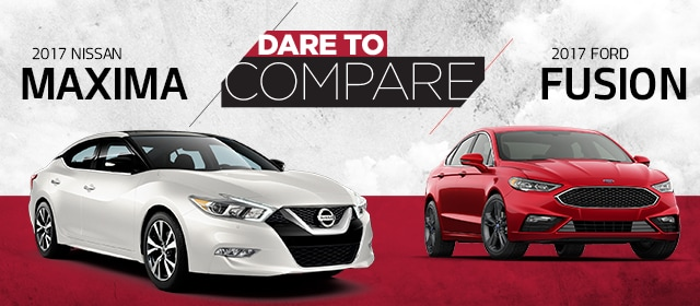 2017 Nissan Maxima vs 2017 Ford Fusion - Blackburn Nissan