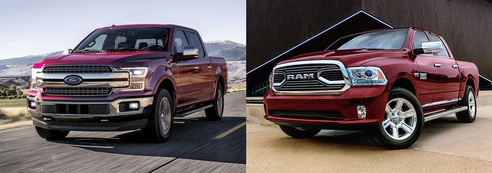 2018 Ford F-150 vs. 2018 Ram 1500 Truck Comparison