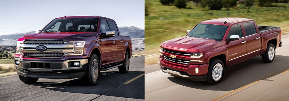 2018 ford f 150 vs chevy silverado 1500 truck comparison. Black Bedroom Furniture Sets. Home Design Ideas