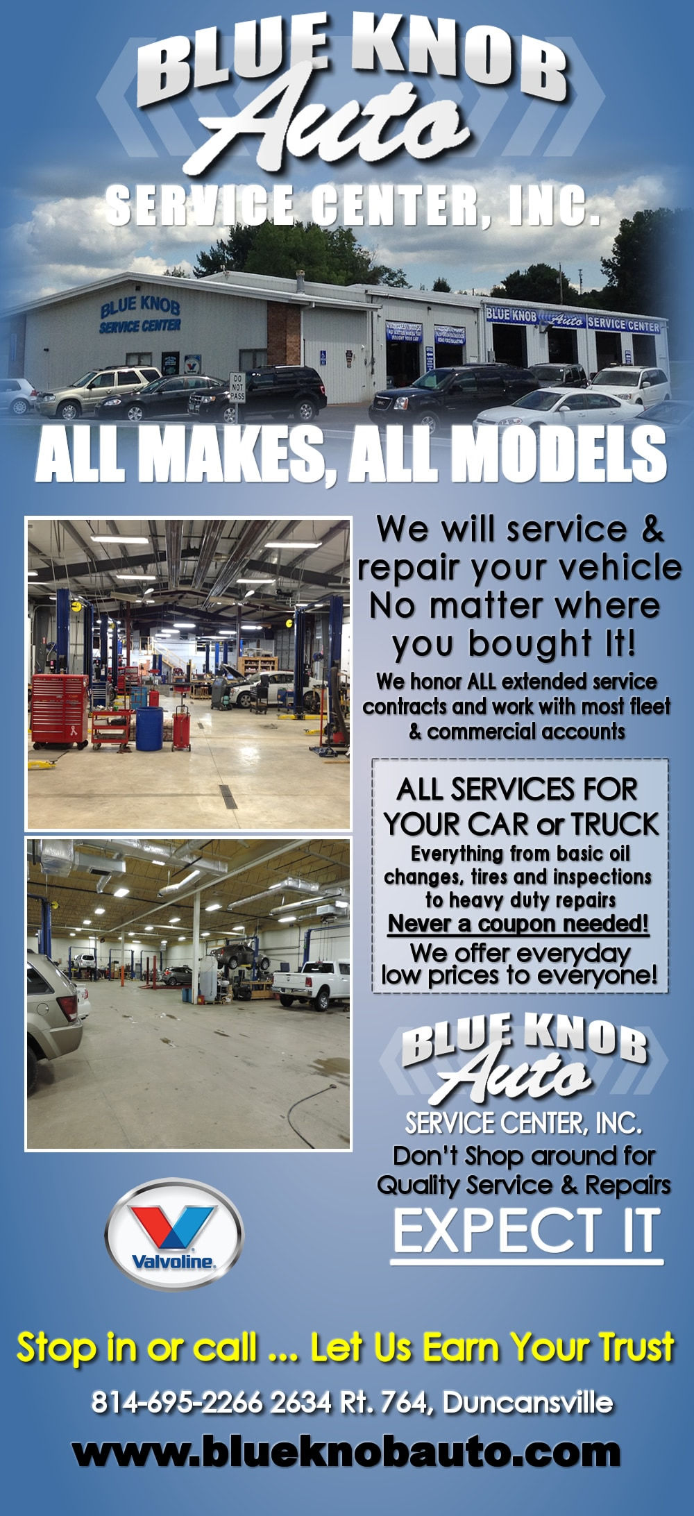 Service Center | Auto Repair | Duncansville near Altoona ...