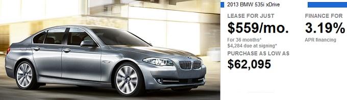 New BMW 535i xDrive Lease fer