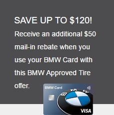 Save up to $120 when you use your BMW credit card