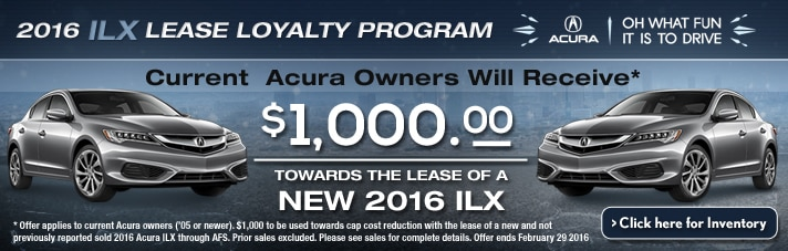 Acura ILX $1000 Loyalty Program