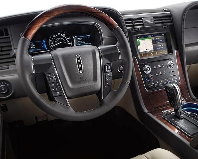 interior of 2017 Lincoln Navigator
