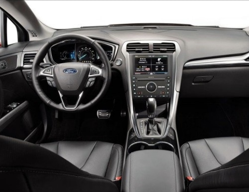 The interior of a Ford Fusion