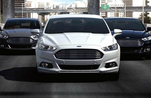 3 2016 Fusions Driving On The Road