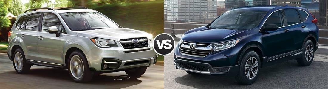 2017 Subaru Forester vs 2017 Honda CR-V