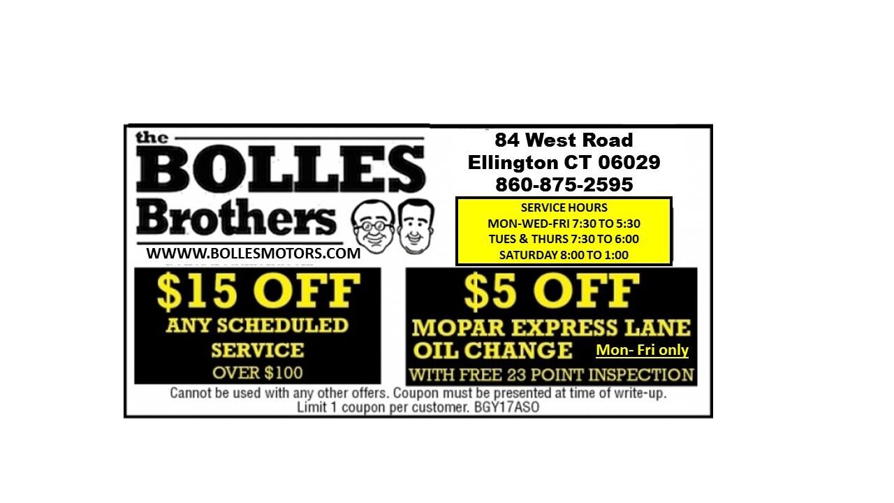 Ellington ct auto service repair specials bolles motors for Bolles motors used cars